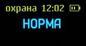 Дисплей детектора жучков Raksa 120 в режиме охраны